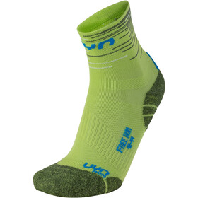 UYN Free Run Chaussettes Homme, green lime/french blue